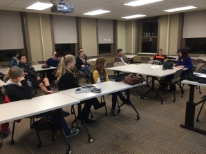 Monica Wehby (Candidate for US Senate) visiting with the OSU College Republicans - 2013