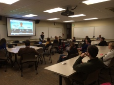 Ben Pollock (Candidate for CD5) visiting with the OSU College Republicans - 2013