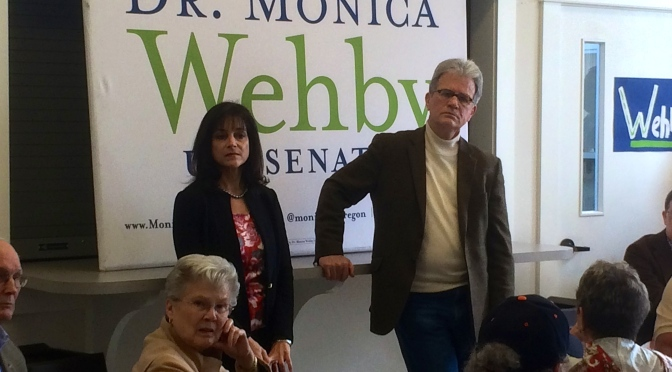 Senator Tom Coburn at Monica Wehby campaign stop