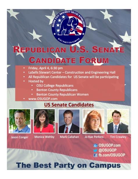 Poster Senate Candidate Fourm