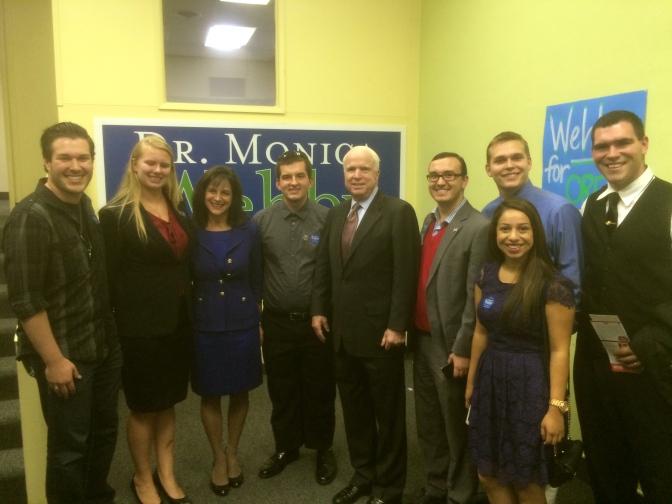 Senator McCain in Salem