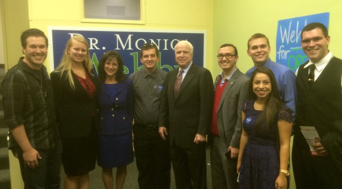 Senator McCain Campaigning With Monica Wehby