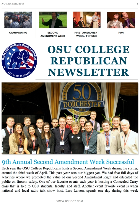 College Republican News Letter 1