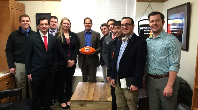 College Republicans Visit the Oregon Capitol