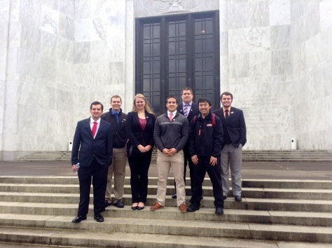College Republicans at the Oregon Capitol. 2015